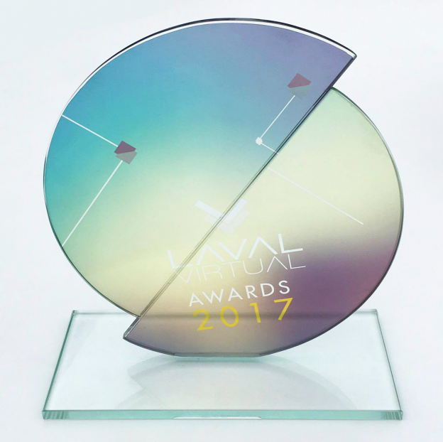 LavalVirtualAwards_bestVR_trophy